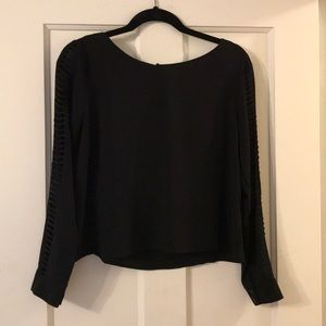 ASTR Long Sleeve Top with Sleeve Detail